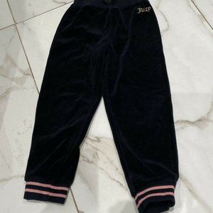 Juicy Couture Baby Girls Black Velour Jogger 4